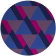 rug #1143955 | round blue retro rug