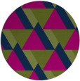 rug #1143963 | round green abstract rug
