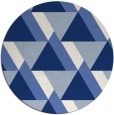 rug #1143967 | round blue abstract rug