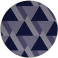 rug #1144007   round blue-violet retro rug