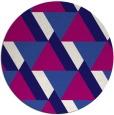 rug #1144022 | round retro rug