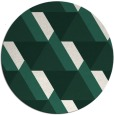 rug #1144051 | round green abstract rug