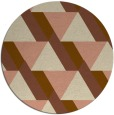 rug #1144067 | round brown retro rug