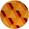 rug #1144127 | round orange abstract rug