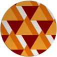 rug #1144131 | round orange geometry rug