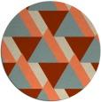 rug #1144135 | round orange retro rug