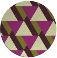 rug #1144163 | round green abstract rug
