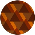 rug #1144191 | round red-orange abstract rug