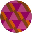 rug #1144199 | round red-orange abstract rug