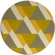 rug #1144235 | round yellow retro rug