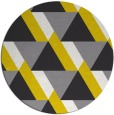 rug #1144243 | round yellow abstract rug