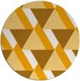 rug #1144271 | round light-orange geometry rug
