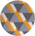 rug #1144283 | round light-orange abstract rug