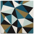 rug #1144683 | square brown graphic rug