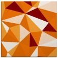 rug #1144867 | square orange abstract rug
