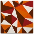 rug #1144939 | square red-orange abstract rug