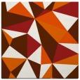rug #1144939 | square red-orange graphic rug