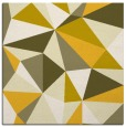 rug #1144971 | square yellow abstract rug