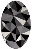rug #1145027 | oval white geometry rug