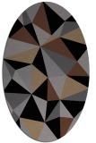 rug #1145031   oval black graphic rug