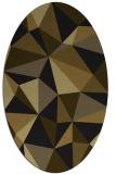 rug #1145043 | oval black geometry rug