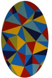 rug #1145055 | oval blue graphic rug