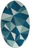 rug #1145091 | oval blue-green rug