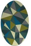 rug #1145153 | oval abstract rug