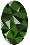 rug #1145163 | oval light-green abstract rug