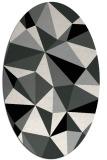 rug #1145167 | oval black graphic rug