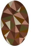 rug #1145171 | oval mid-brown rug