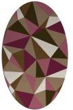 rug #1145179 | oval beige graphic rug
