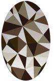 rug #1145186 | oval abstract rug