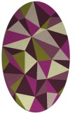 rug #1145198 | oval abstract rug
