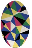 rug #1145223   oval black graphic rug