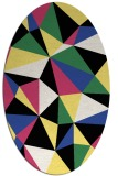 rug #1145224 | oval abstract rug