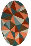 rug #1145239 | oval beige geometry rug