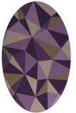 rug #1145271   oval purple graphic rug
