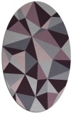 rug #1145275 | oval purple geometry rug