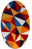 rug #1145279 | oval red graphic rug