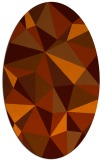rug #1145295 | oval red-orange abstract rug