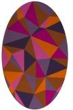 rug #1145303 | oval red-orange geometry rug