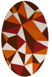rug #1145307 | oval red-orange abstract rug