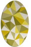rug #1145315 | oval white abstract rug