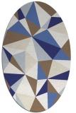 rug #1145319   oval white geometry rug