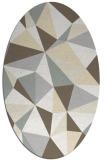 rug #1145327 | oval white abstract rug