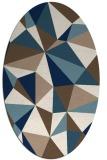 rug #1145331 | oval white abstract rug