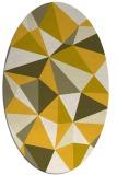 rug #1145340 | oval graphic rug