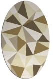 rug #1145343 | oval white abstract rug