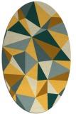 rug #1145351 | oval light-orange abstract rug